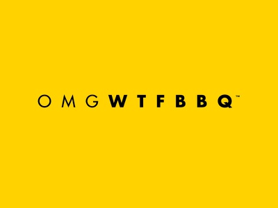 OMGWTFBBQ acronyms acronym livestrong live strong omgwtfbbq omg wtf bbq black yellow black and yellow yellow and black adobe illustrator cs3 adobe illustrator illustrator cs3 illustrator typography futura logo logo design mockup mock design