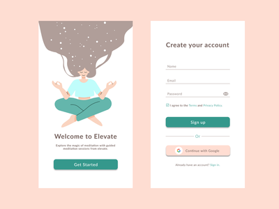 Daily UI Challenge #001 | Sign Up ux vector illustration dailychallenge daily 100 challenge app ui design dailyuichallenge
