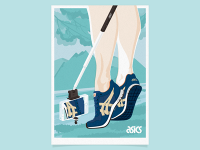 ASICS Tiger Key Visual legs illustration poster selfie iphone cellphone tiger lifestyle sport shoes sneakers asics