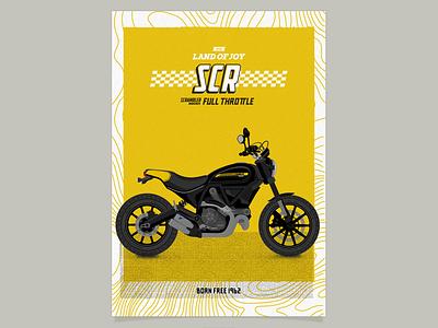 Poster Scrambler Ducati Full Throttle throttle typography vectorial vector illustration cafe racer poster scrambler ducati motorcycle motorbike bike