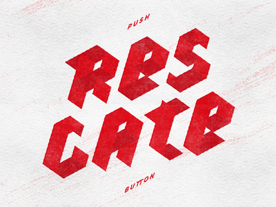 Rescate graphic design lettering diagonal push geometrical rescue red letters type typography
