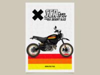 Scrambler Desert Sled Black Edition Poster