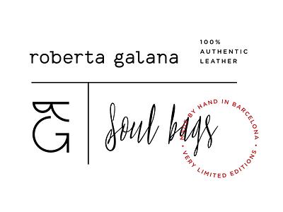 Roberta Galana Identity typography fashion seal identity leather bag logo