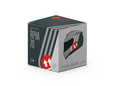 This Side Up. Box for HJC RPHA 70 bike helmet motorbike bike helmet cardboard box package pack packaging