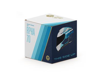 This Side Up. Box for HJC RPHA 70 packaging design packaging box bike motorbike helmet