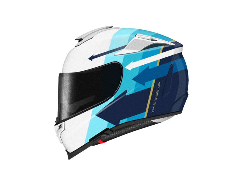 This Side Up. Graphics for HJC RPHA 70 racing race sport arrow motorsport motorbike bike helmet