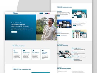 Akhilweb portfolio website wordpress website webdesign ui branding