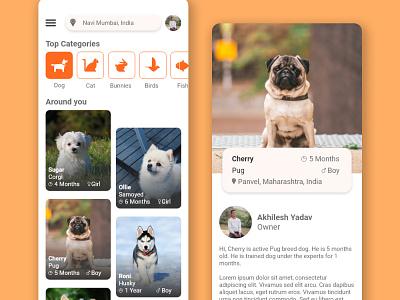 Pet App Design ui ui design