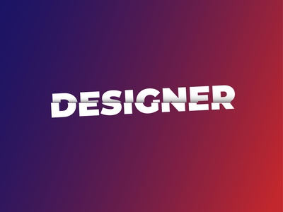 Designer logo logodesign logo minimal typography vector illustrator design branding branding design brand identity brand design adobephotoshop adobeillustator