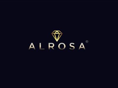 ALROSA brand designer design art logotype logo logos logo design adobephotoshop design typography logodesign illustrator branding design branding brand identity brand design adobeillustator