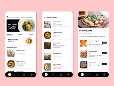 Food Delivery app fooddeliveryapp adobeillustator uxuidesign xd design designer food delivery food app uidesign uxdesign