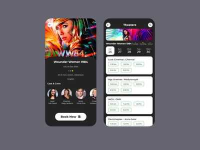 MOVIE BOOKING APP ui design ui  ux ux app designers app dribbble movie movie app uxdesign uidesign
