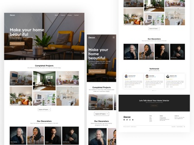Décor Interior Design Landing page with Mobile Responsive. interaction graphicdesign informationarchitecture interiors artichitect interiorarchitecture visualdesign graphic design inspiration visual design uidesign userexperiance architecture de interior interiordesign ui design uxdesign ux
