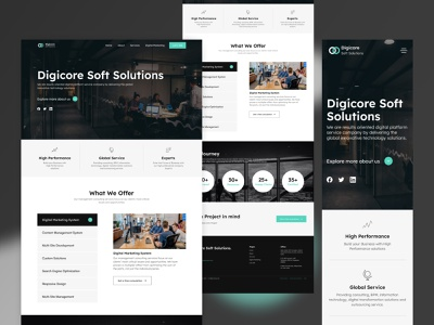 Dogicore soft solutions - Website Revamp. website uidesign uxui digital marketing company ui brand design uxdesign design responsive mobileresponsive agencies agency