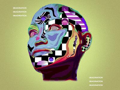Future Vision futurism retro poster gradient purple texture illustration graphic design