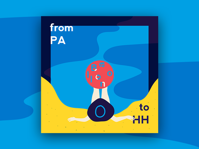 From PA to HH cover travel content design illustration cover vector comfort zone summer vacation journey art direction