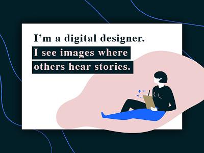 Persona Statement creativiy stories website designer selfpromotion illustration banner
