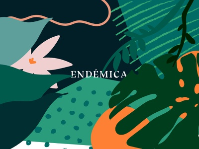Endémica Project wild nature travel jungle island magic illustration personal project
