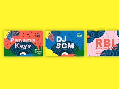 Sicilia Sunday Brunch - event - lineup card post social dj festival brand identity strategy lineup live sicily palette