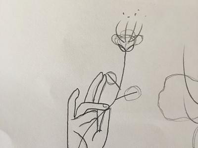 Botany Logo Design Sketch heritage sicily caper flower monogram flower hand botanical botany identity branding design logo