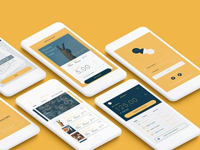ONGCOIN - UI Design Master 2018 app apps application web design interaction interface design user flow mockup ong app concept ui