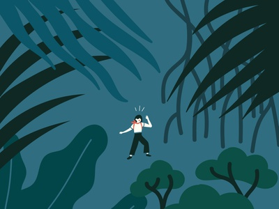 Out the Window lost change grow life jungle illustration illo