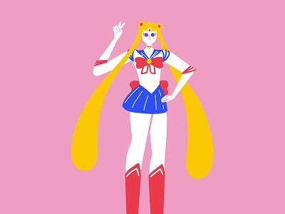Sailor doodle pastel 20yo flatcolor doodle sailormoon