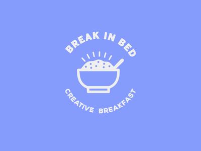 Break in Bed - Call for UI Designers logo logo a day cereal bowl service breakfast logo design branding brand identity logo design