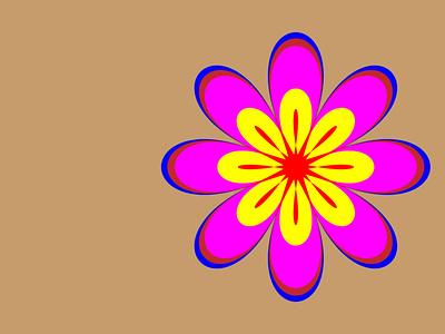 flower 1 abstract logo art illustration flower