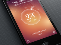 Weather application iOs design