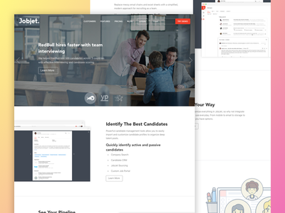 Website Concept recruiting hiring website web