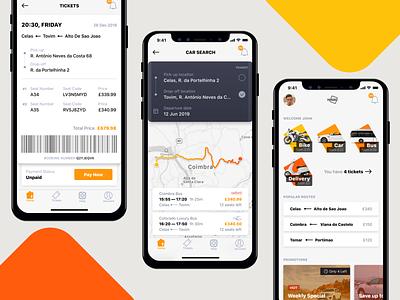 Passenger Transportation - App ticket maps transport mobile app ios iphone