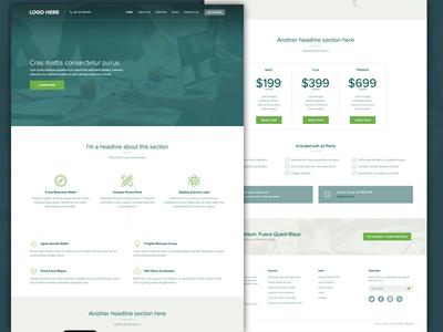 Homepage website interface webdesign home green ux ui web