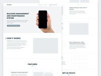Landing page Wirefame
