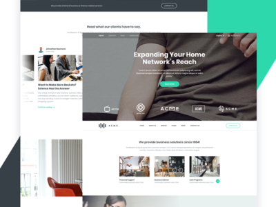 Corporate Landing Page agency business free corporate marketing landing page web website