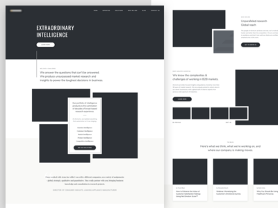 Homepage Wireframe design black  white homepage research consulting website ui high fidelity hi-fi wire content strategy wireframe ux mockup landing  page web