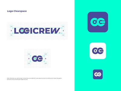 Logicrew Brand Identity System vector icon logo flat branding