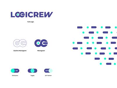 Logicrew Visual Branding System minimal icon flat design logo branding