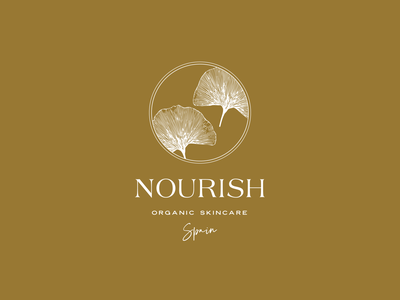 Nourish Logo by Labels Studio logotype illustration organic logo natural logo wellness logo beauty logo skincare logo minimal design logo mark logo design branding