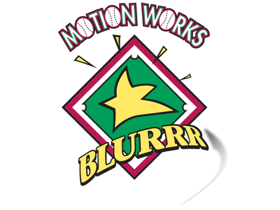 Motion Works Blurrr Baseball Shirt logo illustration