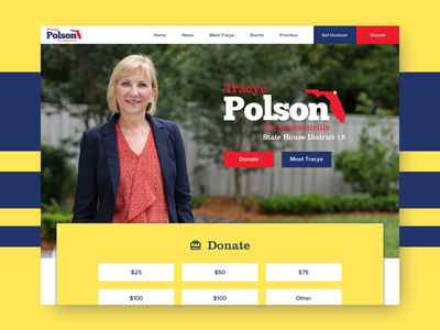 Candidate Tracye Polson's website web design political campaign sketch redesign website