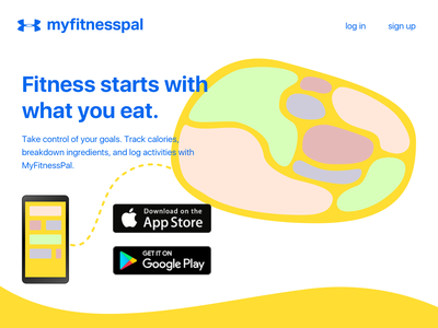 Daily UI 003 - Landing page daily daily ui landing diet fitness myfitnesspal sketch website dailyui