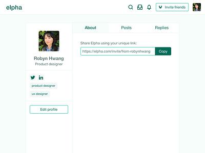 Daily UI 006 - User profile social media uidesign social network user profile social website sketch dailyui