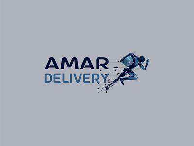 Minimal Logo Design for a Delivery Company branding typography minimal graphics logo design logodesign illustration logo design delivery
