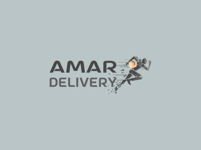 Minimal Logo Design for a Delivery Company 2nd Variant typography flat design graphics illustrator logo design minimal illustration logodesign logo
