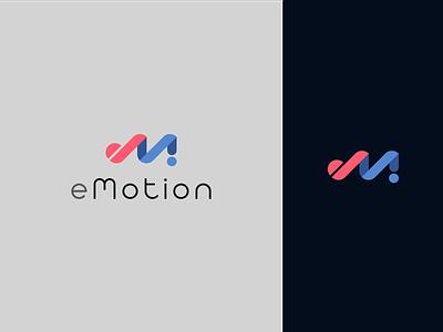 eMotion minimalist logo illustraion minimalist mind emotion illustrator vector flat logo design graphics branding minimal illustration logodesign logo