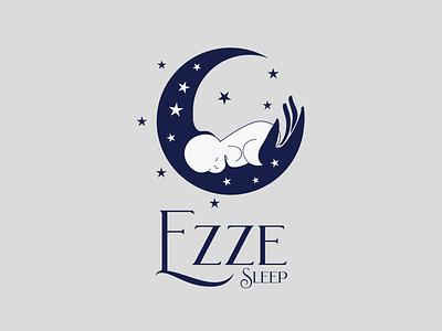 Ezzy Sleep Minimal Logo beautiful logo vector flat logo design graphics branding minimal illustration logodesign logo