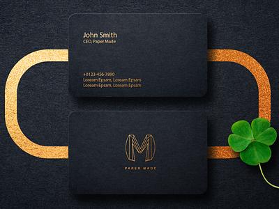 Paper Made Business Card modern design modern logo modern mockup card business card design business card logo