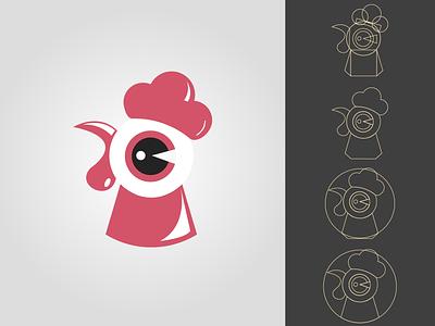 Hen Illustration | Graphics Design Inspiration inspire inspiration ideas idea design red icon logo logodesign branding graphics minimal illustration tutorial