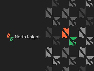 Abstract Logo Design Inspiration branding brand identity brand logos logo knight logo black patterns illusion designs design asbtract knight north